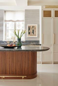 Cocina Art Deco, Art Deco Kitchen, Kitchen Modern, Gold Kitchen, Minimalistic Kitchen, Modern Kitchen Interiors, Mid Century Modern Kitchen, Kitchen Black, Elegant Kitchens