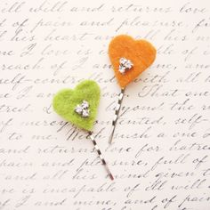 Shop for valentines on Etsy, the place to express your creativity through the buying and selling of handmade and vintage goods. Party Hairstyles, Aud, Hair Pins, Rhinestones, Bobby Pins, Valentines Day, Crochet Earrings, Hair Accessories, Orange