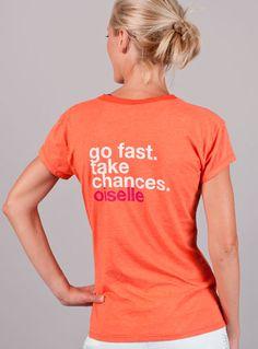 Running Tee Shirt - Go Fast V-Neck Running T-Shirt | Oiselle Running Apparel for Women