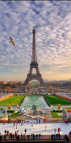 Christmas Time, Paris, France - by Josh Trefethen