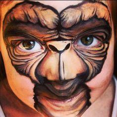 E.T. facepaint #art #face #facepainting  This. Is. Amazing.