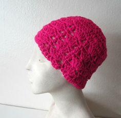 Pink Messy Bun Hat Crochet Bun Hat by TissysTreasures on Etsy