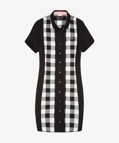 The Amy Winehouse collection is rooted in the singer's personal style, and her distinctive retro silhouettes. This dress is based on the American workwear and bowling shirt styles adopted by the ska culture. With cut-and-sew gingham front and back panels