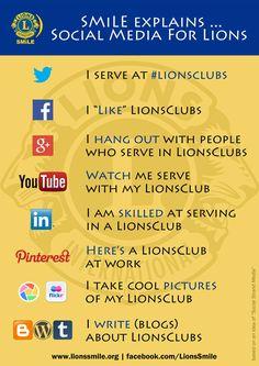 Social Media For Lions Lions International Logo, Lion Poster, Lion Images, Helping Hands, Digital Marketing, Social Media, Smile, India, Posters