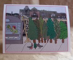 $4.00 Percival Featherington III goes shopping for a Christmas tree on this card.