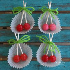Cherry Bomb Birthday Party!  Cute decorations and treats!