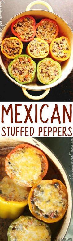 this was a big hit!  def make again!!!     Stuffed Peppers {Mexican Style} - Easy Mexican Stuffed Peppers Recipe