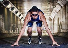 track star, leading lines, senior boy