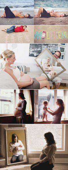 fotos del embarazo con el antes y el después