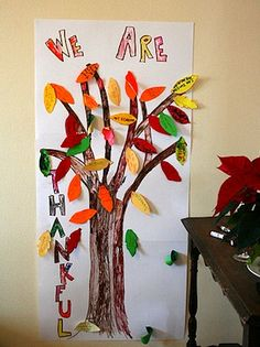 Thankful Thanksgiving Tree - Things to Make and Do, Crafts and Activities for Kids - The Crafty Crow