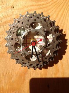 Recycled Bicycle Cog Wall Clock by LlamaTradingCo on Etsy, $25.00