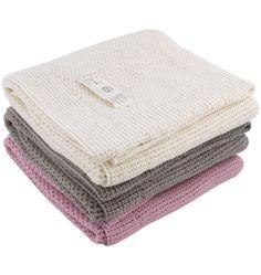 Organic Merino Handknit Blanket