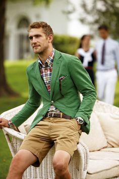 Everything from the waste up is good, but I have to agree with Tom Ford...never wear a blazer with shorts!