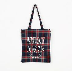 Korea womens shopping mall [REALCOCO] Wat Ever Eco Bag Check / Color : Navy / Price : 24 USD #korea #fashion #style #fashionshop #apperal #koreashop #ootd #realcoco #bag  #canvasbag #checkbag #dailybag