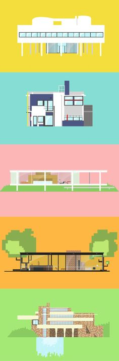Iconic houses by Matteo Muci