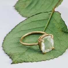 Spring Green Cushion Cut Green Amethyst - Melissa Tyson Designs Spring Green, Mint Green, Organic Engagement Rings, Rose Gold Pictures, Gold Rings, Gemstone Rings, Green Cushions, Green Rings, Cushion Cut