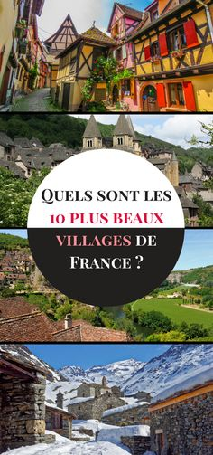 Nos 10 plus beaux villages de France Places to travel 2019 - Travel Photo Road Trip France, Belle France, Beaux Villages, Destination Voyage, Beautiful Places To Travel, Paris, Culture Travel, Time Travel, Family Travel