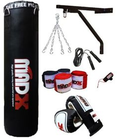 Madx 4ft/5ft #filled #heavy punch bag custom build #set,chain,bracket,gloves,rope,  View more on the LINK: http://www.zeppy.io/product/gb/2/221329649093/