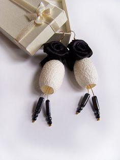 silk cocoon earrings | Flickr - Photo Sharing!