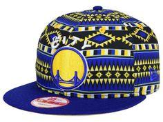"Golden State Warriors NBA New Era 9Fifty ""Tri-All Print"" Flat Bill Snapback Hat #NewEra #GoldenStateWarriors"
