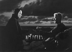 """The Seventh Seal,"" a film by Swedish director Ingmar Bergman, starring Max von Sydow."