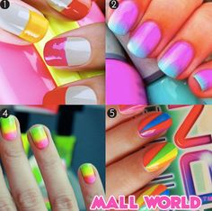 Kick off summer with some cute nail designs! Which is your favorite?  http://blogs.glam.com/glamblush/2013/05/27/mani-monday-copy-these-cute-summer-manis/