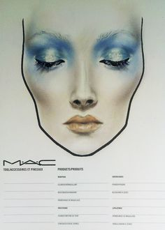 theatrical face-chart - Amalia Bot @ MAC