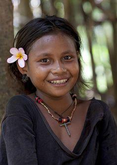 KId from Trobriand island, Papua New Guinea