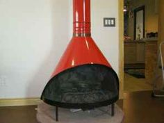 retro Preway wood stove in basement