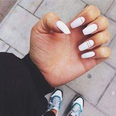 #white #nails