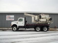 Texoma 330-12 Pressure Digger Mounted on a 1999 International 4900 6X6 Chassis. A great reconditioned unit! This unit is from a major western utility agency.  It is very clean and looks and operates great!    Tires look brand new.  This unit is job ready!  SR# 3721  http://www.sunriseequipment.com/texoma-330-12-international-4900-6x6