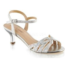 abb1c902dbb Women s Fabulicious Audrey 03 Ankle Strap Sandal - Silver Shimmering Fabric  Sandals