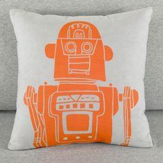Robo-Throw Pillow (Grey)
