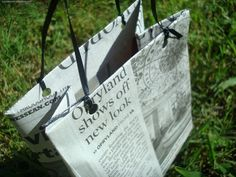 recycling; diy shopping bag