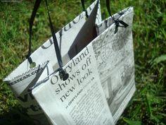 recycling; diy shopping bag