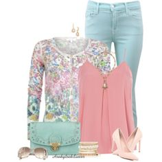 Pastel Cropped Jeans