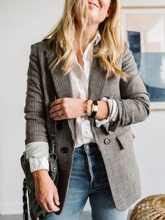 Trajes Business Casual, Business Casual Outfits, Winter Fashion Outfits, Fall Outfits, Autumn Fashion, Blazer Outfits For Women, Fashion Dresses, Dinner Outfits, Emo Outfits