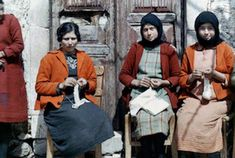 Three women sit and do needlework, Crete. Maynard Owen Williams was a National Geographic correspondent from He was an inveterate traveller who began traveling in his teens, explored Asia and witnessed the Russian Revolution, among other adventures. National Geographic Photographers, Old Greek, Greek Culture, Rare Images, Girl Standing, Female Poses, The Good Old Days, Alter, 1920s