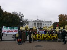 The morning of the White House visit between Netanyahu and President Obama, people lined Pennsylvania Avenue with signs demanding that the United States cut all aid to Israel and calling for Netanyahu to be referred to the International Criminal Court for War Crimes and Crimes Against Humanity. Pressure is mounting all over the world to boycott, divest from and sanction the apartheid state of Israel.
