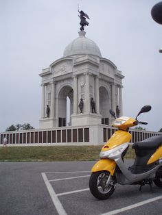 The Pennsylvania monument at the Gettysburg Battlefield. I scootered there :)  Go green & learn history!