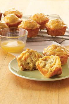 Freshly-grated carrots make these breakfast muffins moist, and a honey butter topping makes them even more delicious.