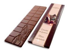 Schokoladen Tafel aus Milchschokolade   Confiserie Bachmann Lucerne