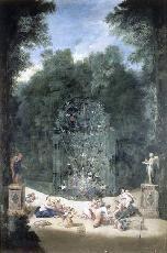 Bosquet du Labyrinthe; heute:  Bosquet de la Reine, c. 1690 by Jean Cotelle