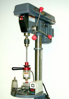 mod a drill press with vice into a plastic injection molding rig - wow!