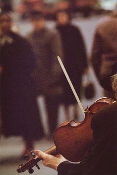 Saul Leiter Color Photograph, Violinist