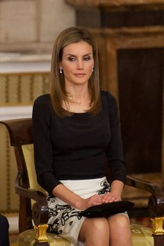 Crown Princess Letizia of Spain attends the official abdication ceremony at the Royal Palace, 18.06.2014 in Madrid, Spain.