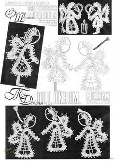 "Photo from album ""Коллекция узоров"" on Yandex. Crochet Snowflake Pattern, Crochet Snowflakes, Crochet Doilies, Crochet Flowers, Bobbin Lace Patterns, Tatting Patterns, Crochet Patterns, Bruges Lace, Japanese Crochet"