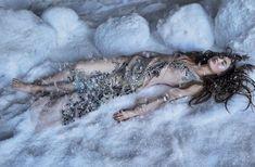 Grace Elizabeth   Snow Queen Fashion Editorial   Vogue Mexico Cover