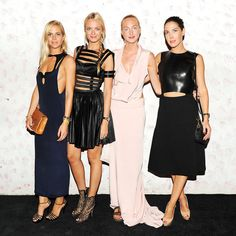 Jenna, Virginie, Claire, and Prisca Courtin-Clarins. Carine Roitfeld and Barneys's Karaoke Party.