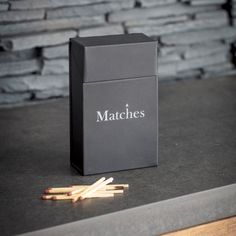 Our practical Matches Box has been given a refresh ready for the dark dark winter months. It makes it the perfect way to disguise cardboard match boxes and is even built to accommodate larger sized packs too. Fireplace Accessories, Room Accessories, Thank You Customers, Gauntlet Gloves, Log Store, Dark Winter, Log Burner, Metal Box, New Fonts